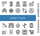 Direction Simple Icons Set....