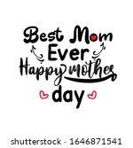 happy mother's day. vector hand ... | Shutterstock .eps vector #1646871541