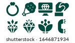 marriage icon set. 8 filled... | Shutterstock .eps vector #1646871934