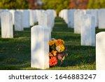Gravestones And Flowers  ...