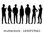 vector silhouettes of  men and... | Shutterstock .eps vector #1646919661