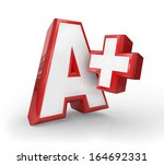 a  plus letter grade rating top ... | Shutterstock . vector #164692331