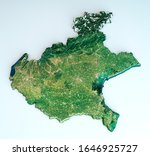 Satellite View Of The Veneto...