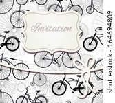 hipster invitation card in... | Shutterstock .eps vector #164694809