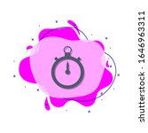 stopwatch colored icon. simple...