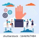people character voting concept....   Shutterstock .eps vector #1646967484