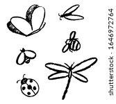 simple vector hand drawn... | Shutterstock .eps vector #1646972764