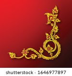 royal golden vintage ornament... | Shutterstock .eps vector #1646977897