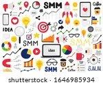 vector set of smm elements.... | Shutterstock .eps vector #1646985934