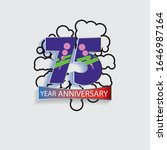 75 year anniversary vector... | Shutterstock .eps vector #1646987164