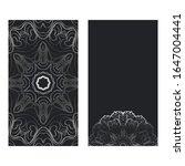 Templates Card With Mandala...