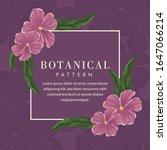 botanical flower frame... | Shutterstock .eps vector #1647066214