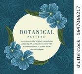 botanical flower frame... | Shutterstock .eps vector #1647066217