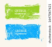 set of grunge vector frames.... | Shutterstock .eps vector #1647067621
