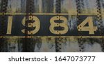 Number 1984 1 9 8 4 In Yellow...