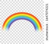 rainbow icon isolated on... | Shutterstock .eps vector #1647074221