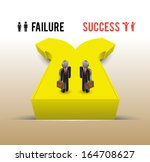 failure success concept  with ...   Shutterstock .eps vector #164708627