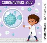 coronavirus chart with big cell ... | Shutterstock .eps vector #1647104671
