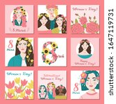 international women's day....   Shutterstock .eps vector #1647119731