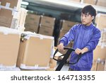 Male Chinese Worker With Fork...