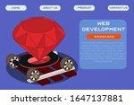 web development site template.... | Shutterstock .eps vector #1647137881