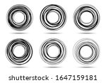 circle spiral frame set....   Shutterstock .eps vector #1647159181