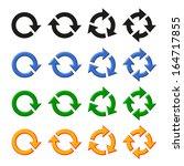 four  arrow rotation set | Shutterstock . vector #164717855