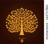 golden bodhi tree symbol ... | Shutterstock .eps vector #164717861