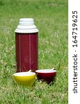 thermal thermos with two cups... | Shutterstock . vector #164719625