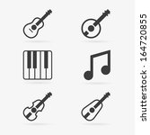 set of clean vector musical... | Shutterstock .eps vector #164720855