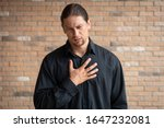 caucasian man with reflux...   Shutterstock . vector #1647232081
