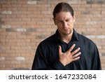 caucasian man with reflux...   Shutterstock . vector #1647232084