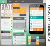 flat web design elements....   Shutterstock .eps vector #164724251
