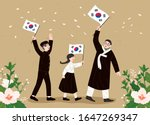 liberation day  korea's...   Shutterstock .eps vector #1647269347