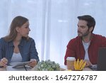 caucasian man and caucasian...   Shutterstock . vector #1647276787