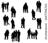 vector  isolated  set of group... | Shutterstock .eps vector #1647296761
