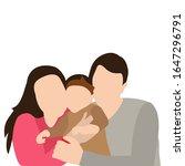 isolated  portrait family  flat ... | Shutterstock .eps vector #1647296791
