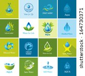 set of vector water icons 2. | Shutterstock .eps vector #164730371