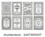 vintage gold vector set retro... | Shutterstock .eps vector #1647305437