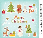 christmas icons set | Shutterstock .eps vector #164733071