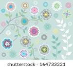 floral gems | Shutterstock .eps vector #164733221