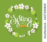 spring sale. seasonal offer...   Shutterstock .eps vector #1647334834
