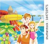 summer family | Shutterstock .eps vector #164733971