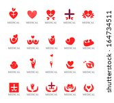 medical icons set   isolated on ... | Shutterstock .eps vector #164734511
