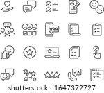 set of feedback icons  customer ...   Shutterstock .eps vector #1647372727