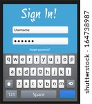 vector login form template with ...
