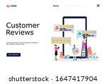 customer reviews vector concept ...