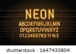 neon alphabet with numbers and...   Shutterstock .eps vector #1647433804