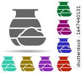 holi in multi color style icon. ...