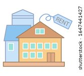 rent house or building icon....